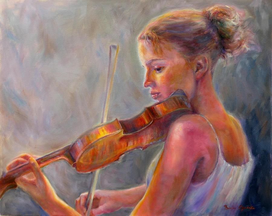 The Recital Painting  - The Recital Fine Art Print