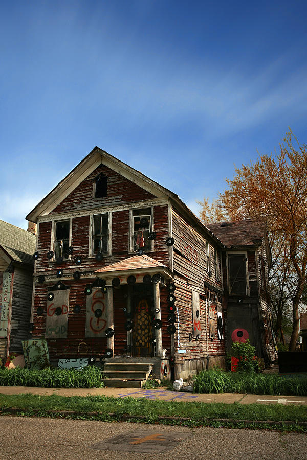 The Record House At The Heidelberg Project - Detroit Michigan Photograph  - The Record House At The Heidelberg Project - Detroit Michigan Fine Art Print