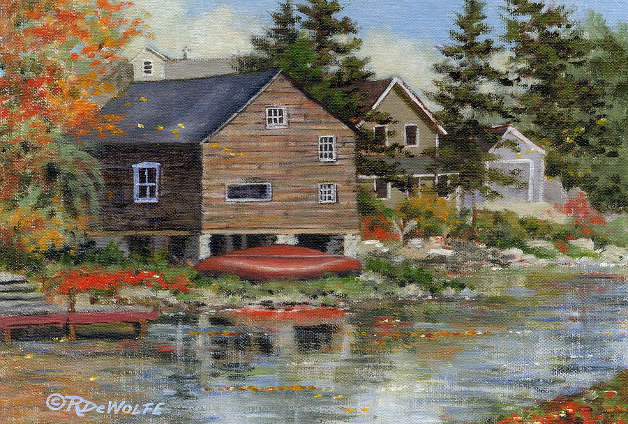 The Red Canoe Painting