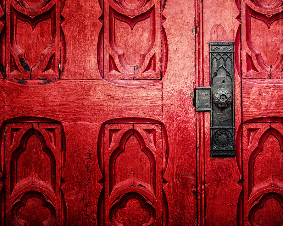 The Red Church Door Photograph