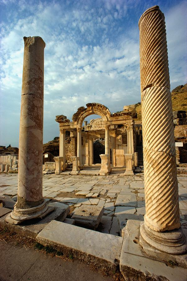 The Remains Of Hadrians Gate At Ephesus Photograph