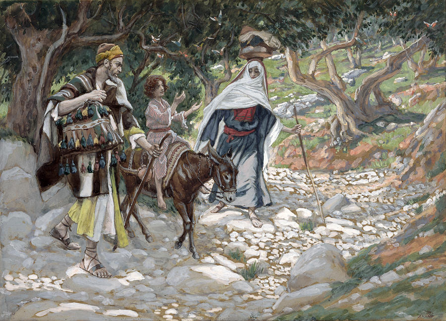 The Return From Egypt Painting