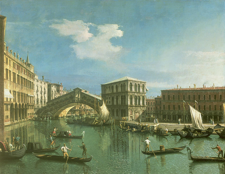 The Rialto Bridge Painting  - The Rialto Bridge Fine Art Print
