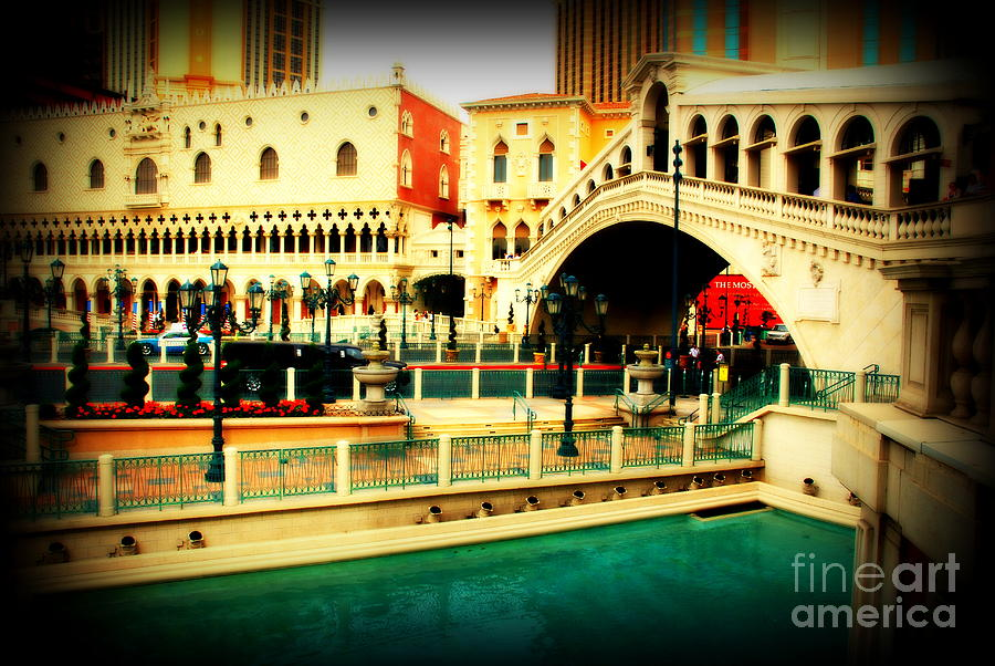 Venice Photograph - The Rialto Bridge Of Venice In Las Vegas by Susanne Van Hulst
