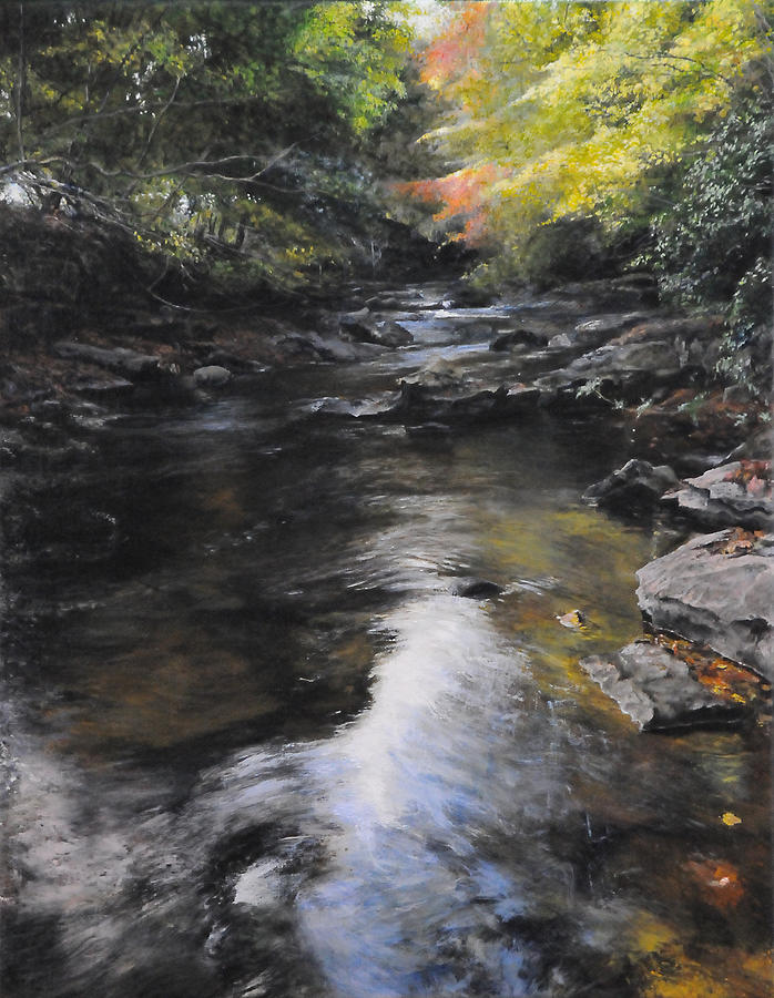 The River At Lady Bagots Painting  - The River At Lady Bagots Fine Art Print