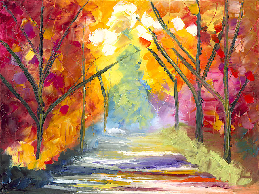 The Road Less Traveled Painting  - The Road Less Traveled Fine Art Print
