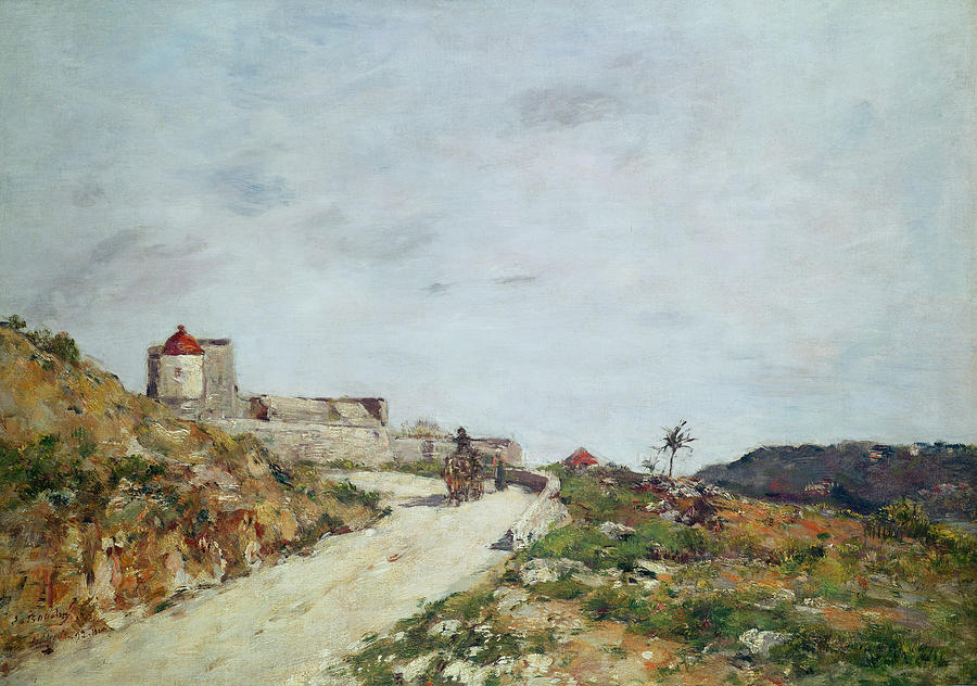 The Road To The Citadel At Villefranche Painting  - The Road To The Citadel At Villefranche Fine Art Print