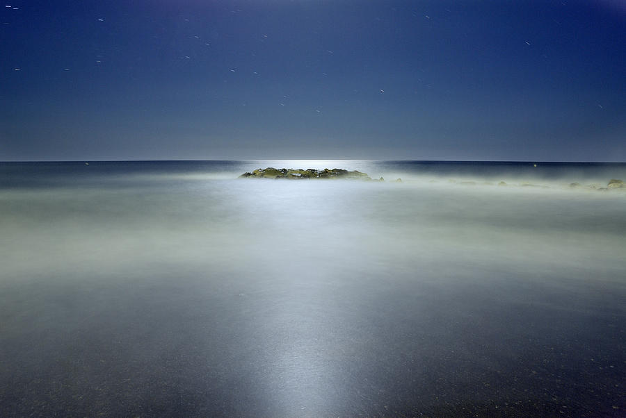 The Rock Island Under De Moonlight Photograph