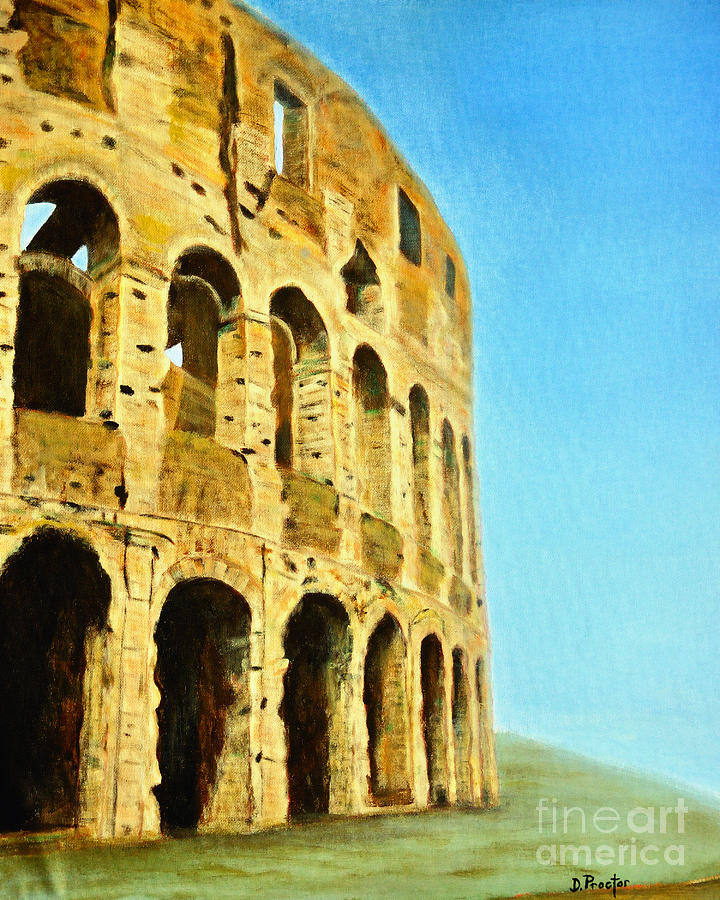 The Roman Colosseum Painting  - The Roman Colosseum Fine Art Print