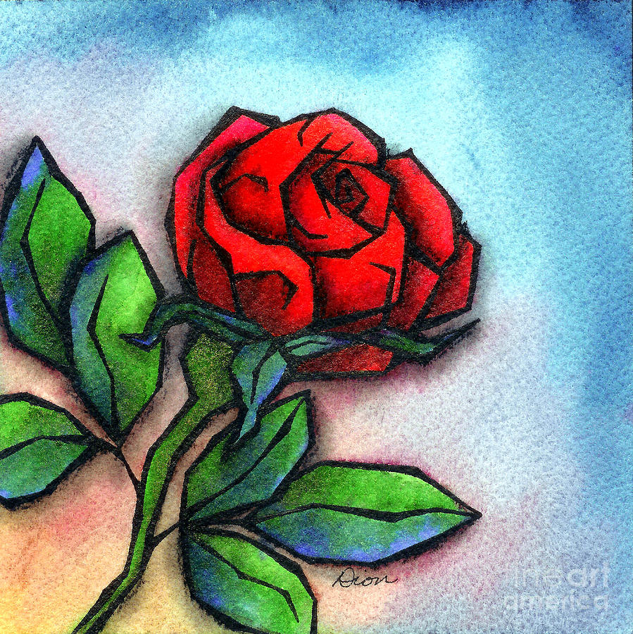 The Rose Of Love Mixed Media  - The Rose Of Love Fine Art Print