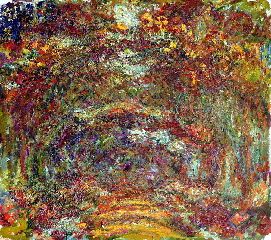 The Rose Path Giverny Painting  - The Rose Path Giverny Fine Art Print