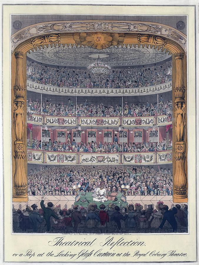 History Photograph - The Royal Coburg Theatre And Audience by Everett