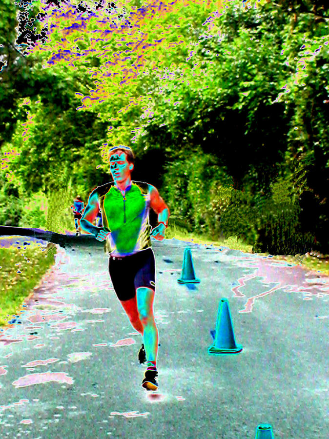 The Runner Digital Art  - The Runner Fine Art Print