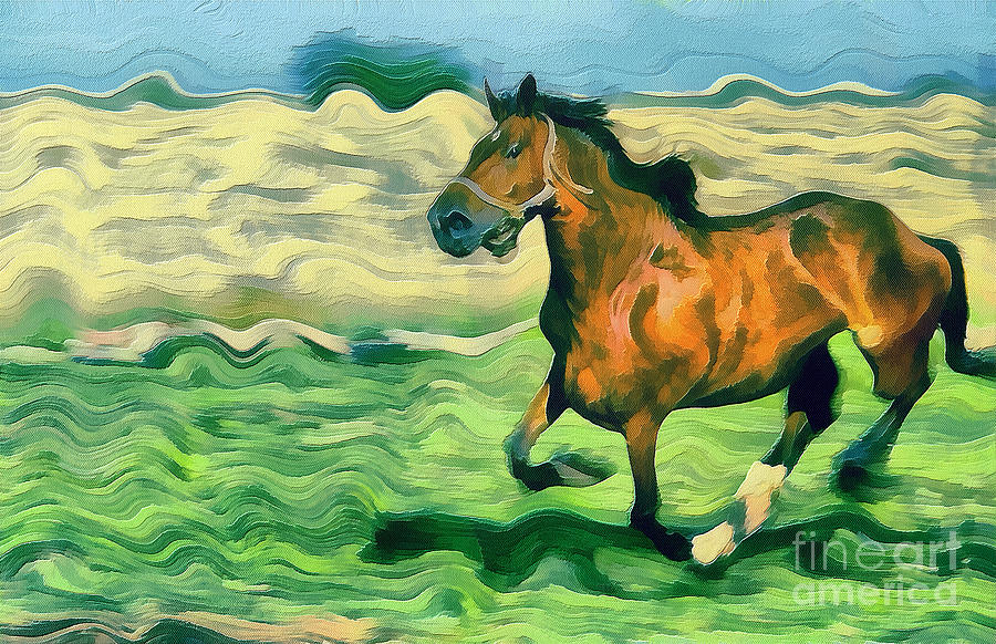 The Running Horse Painting