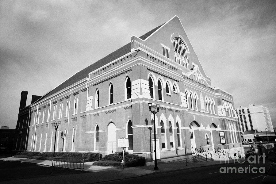 The Ryman Auditorium Former Home Of The Grand Ole Opry And Gospel Union Tabernacle Nashville Photograph