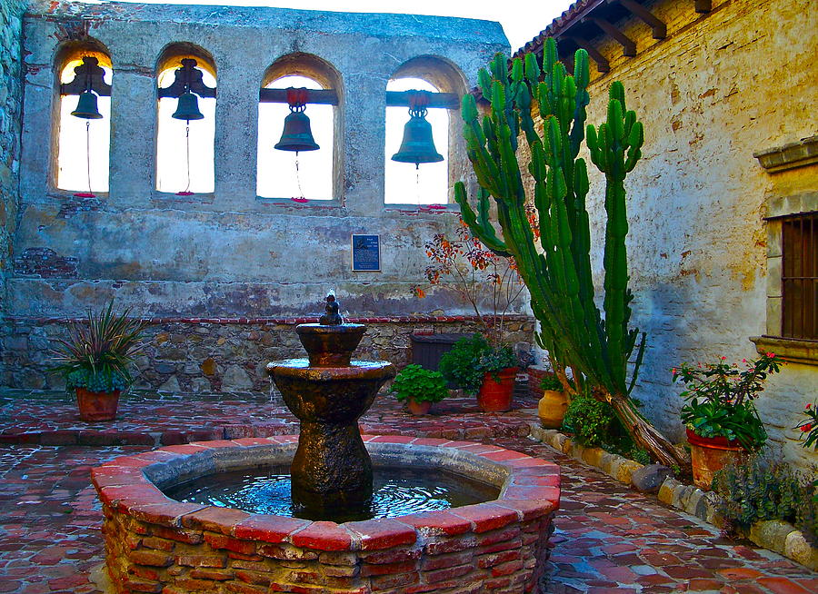 The Sacred Garden Of Mission San Juan Capistrano California Photograph  - The Sacred Garden Of Mission San Juan Capistrano California Fine Art Print