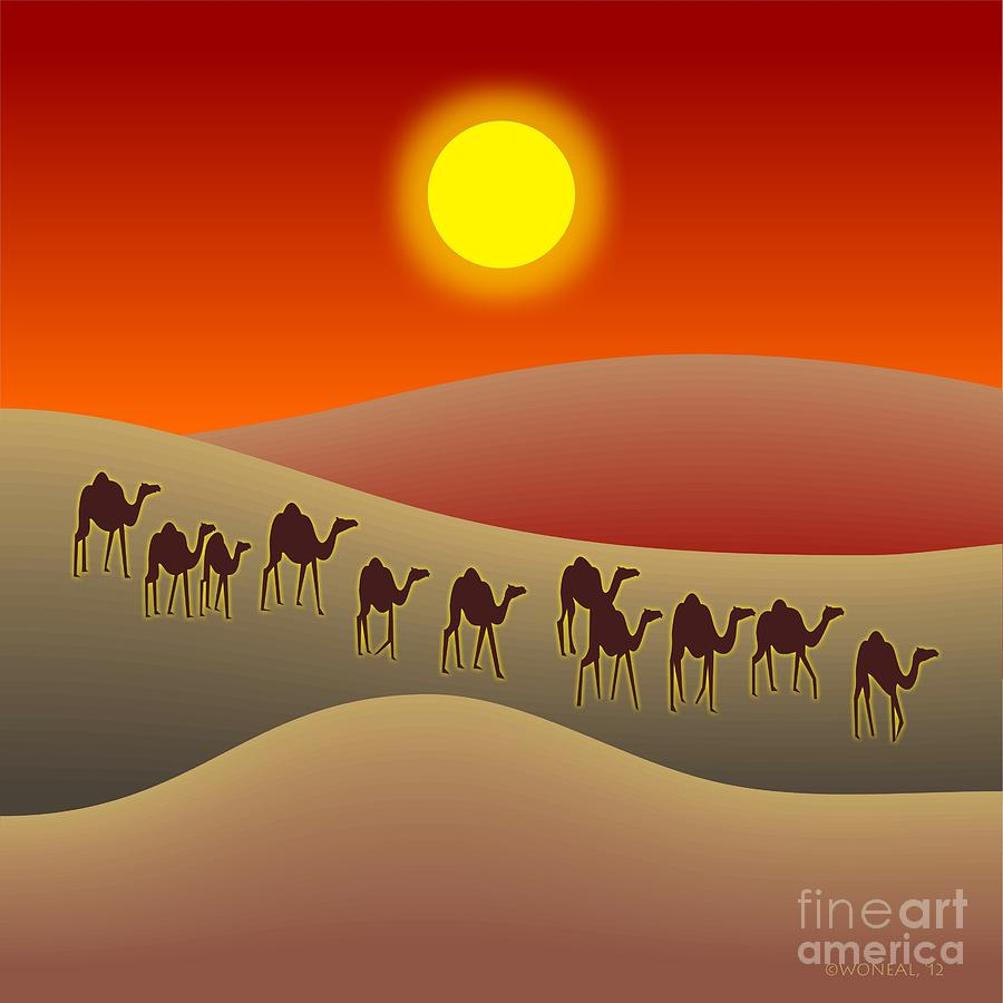 The Saharan Sun Digital Art  - The Saharan Sun Fine Art Print