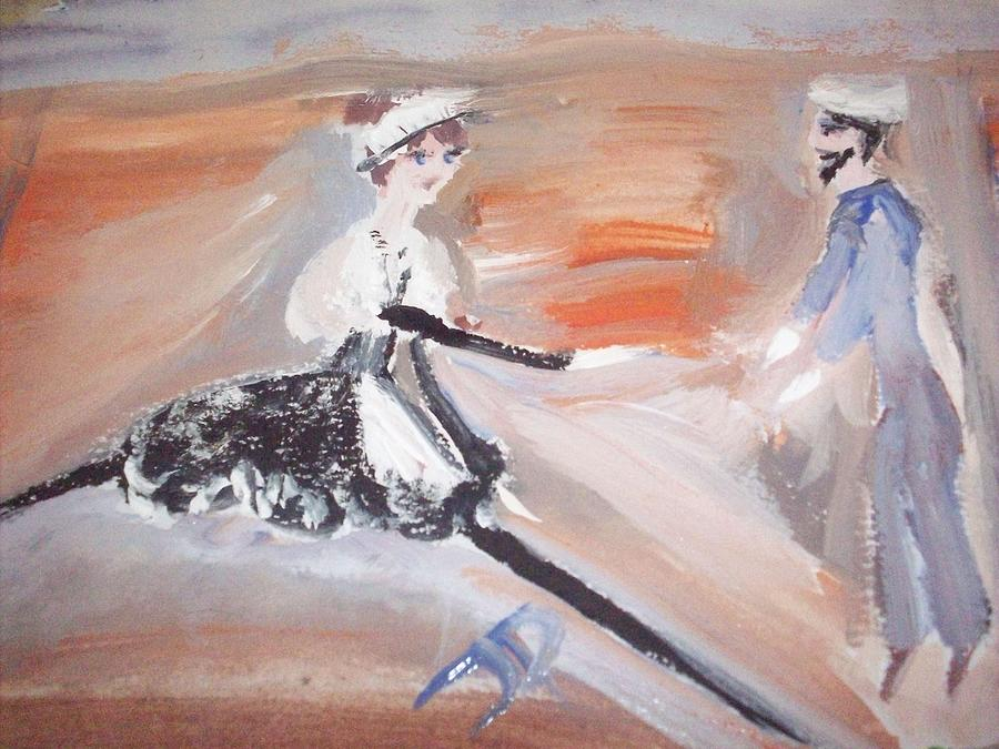The Sailor And The French Maid Painting  - The Sailor And The French Maid Fine Art Print