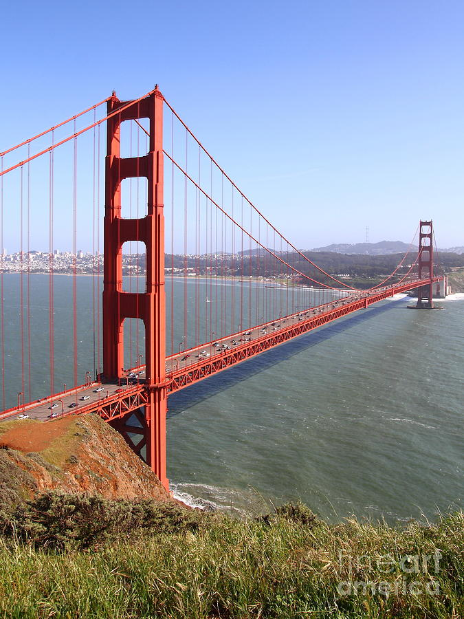 The San Francisco Golden Gate Bridge . 7d14504 Photograph  - The San Francisco Golden Gate Bridge . 7d14504 Fine Art Print