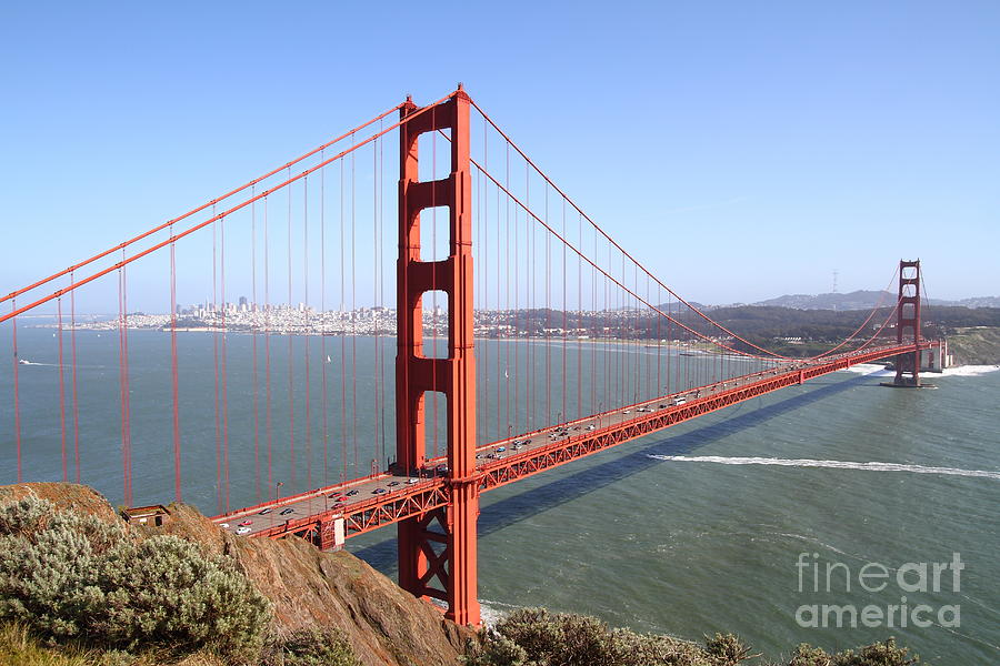 The San Francisco Golden Gate Bridge . 7d14507 Photograph  - The San Francisco Golden Gate Bridge . 7d14507 Fine Art Print