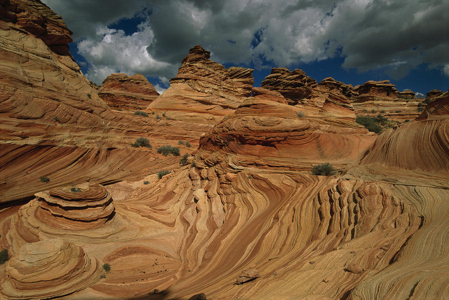 The Sandstone Layers Of The Coyote Photograph