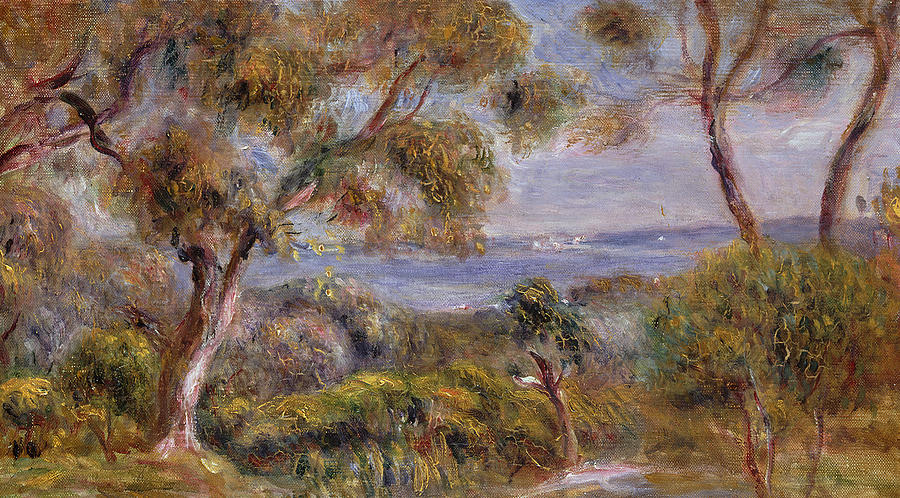 The Sea At Cagnes Painting