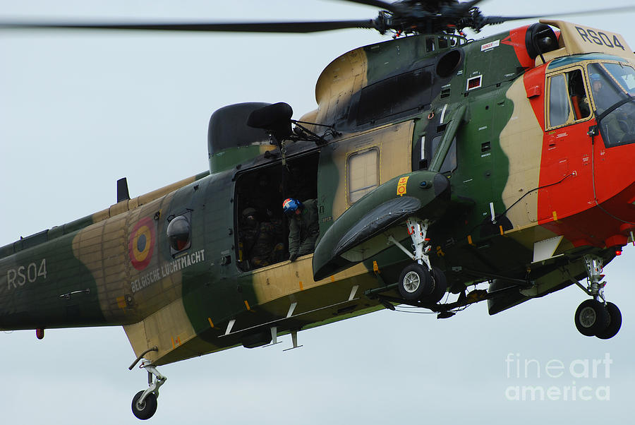 The Sea King Helicopter In Use Photograph  - The Sea King Helicopter In Use Fine Art Print