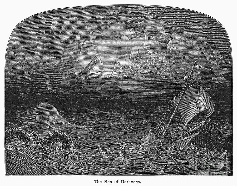 19th Century Photograph - The Sea Of Darkness by Granger
