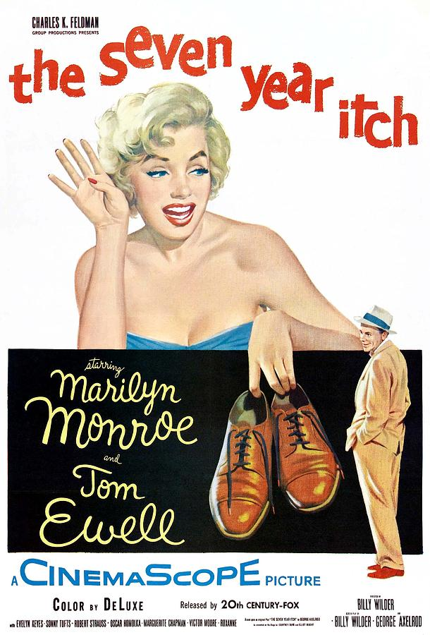 1950s Movies Photograph - The Seven Year Itch, Marilyn Monroe by Everett