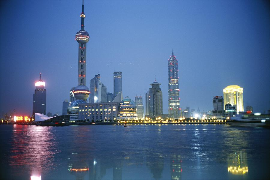 The Shanghai Skyline And Riverfront Photograph  - The Shanghai Skyline And Riverfront Fine Art Print