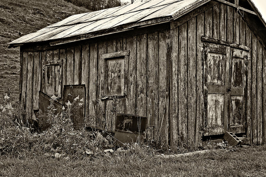 The Shed Sepia Photograph  - The Shed Sepia Fine Art Print