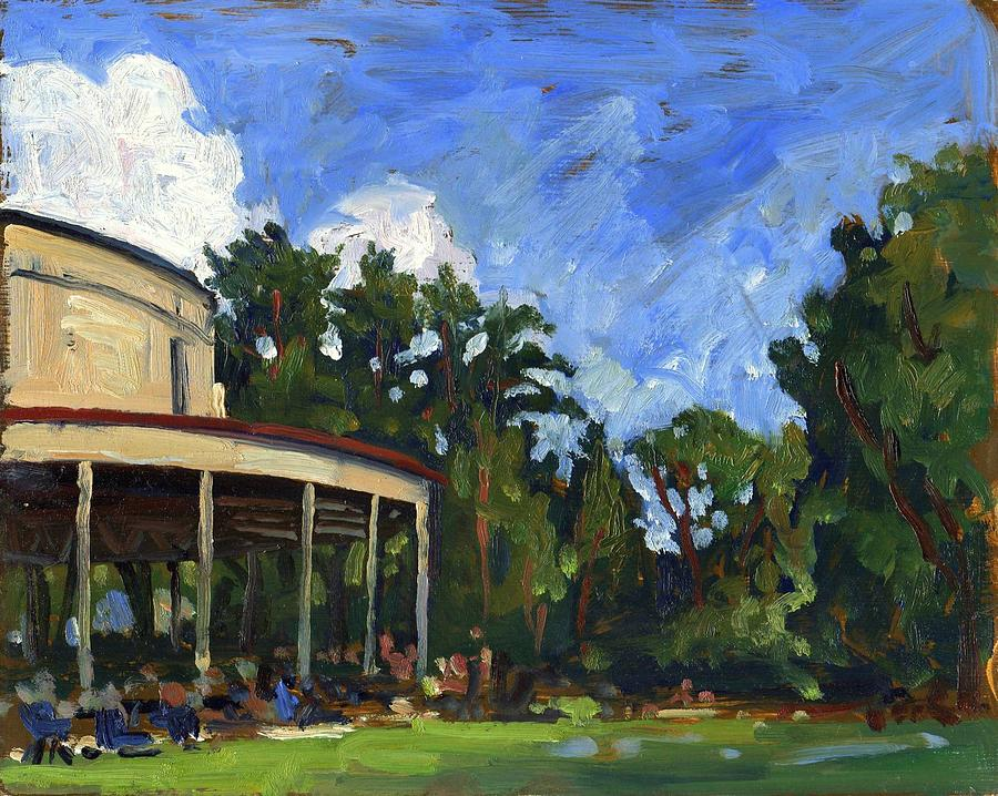 The Shed Tanglewood Painting  - The Shed Tanglewood Fine Art Print