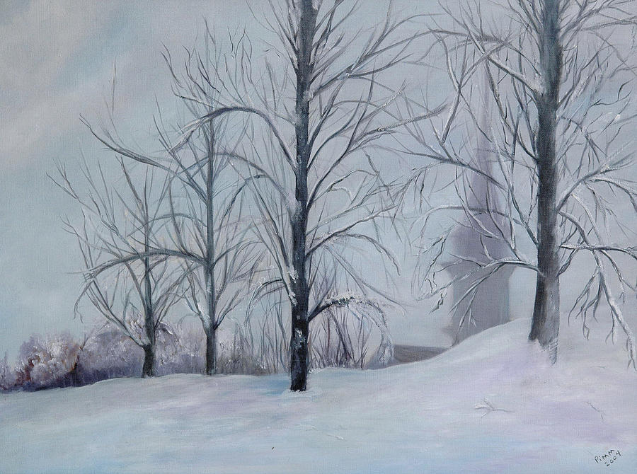 The Silence Of Snow Painting  - The Silence Of Snow Fine Art Print