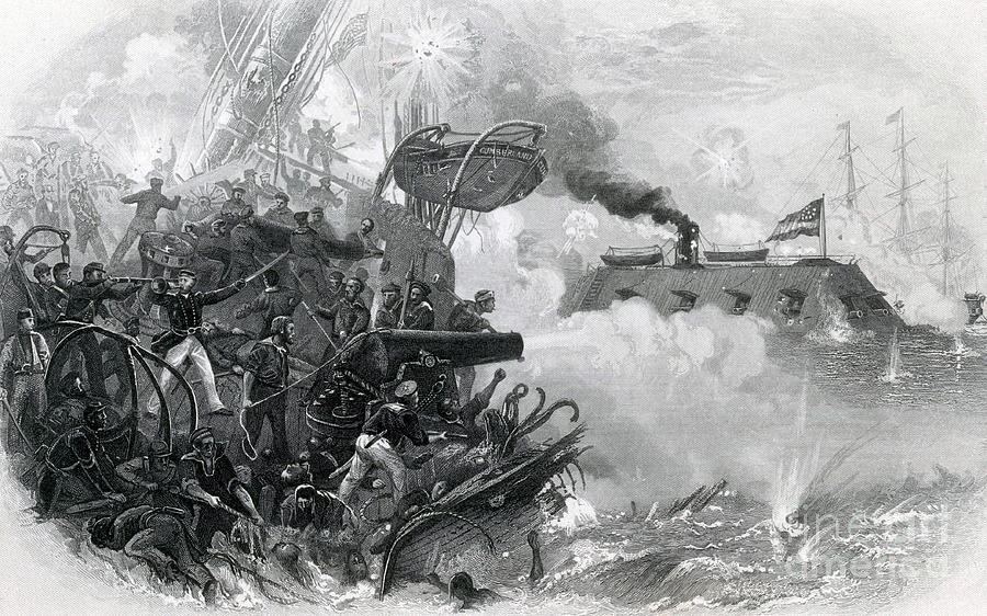 The Sinking Of The Cumberland, 1862 Photograph