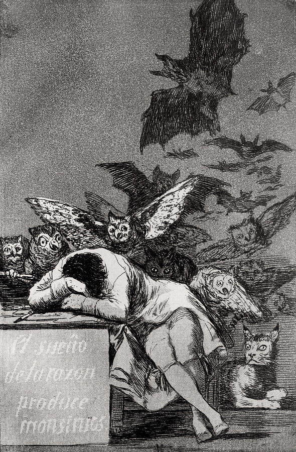 The Sleep Of Reason Produces Monsters Painting