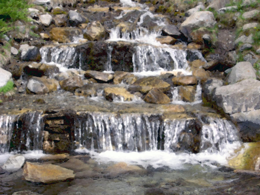 The small waterfalls by james bryron love for Pictures of small waterfalls