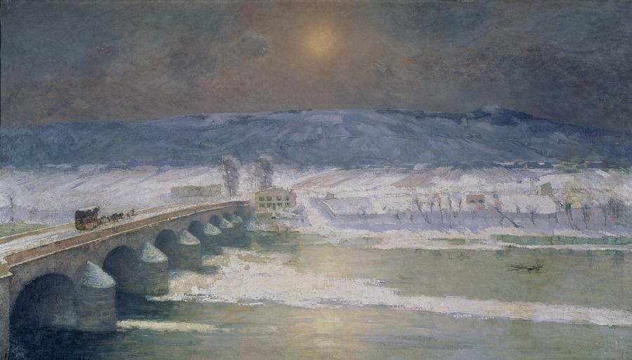 The Snow In The Auvergne Painting