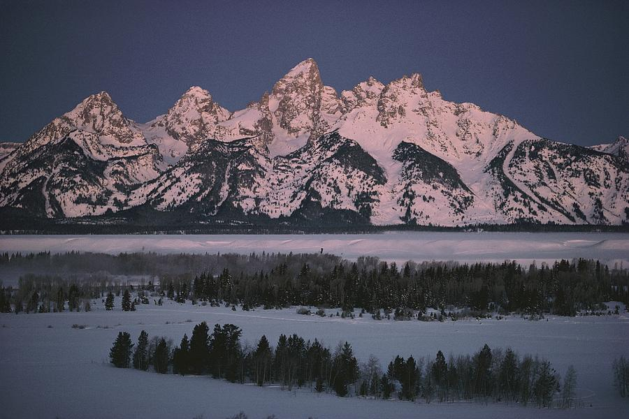 The Snowcapped Grand Tetons Photograph