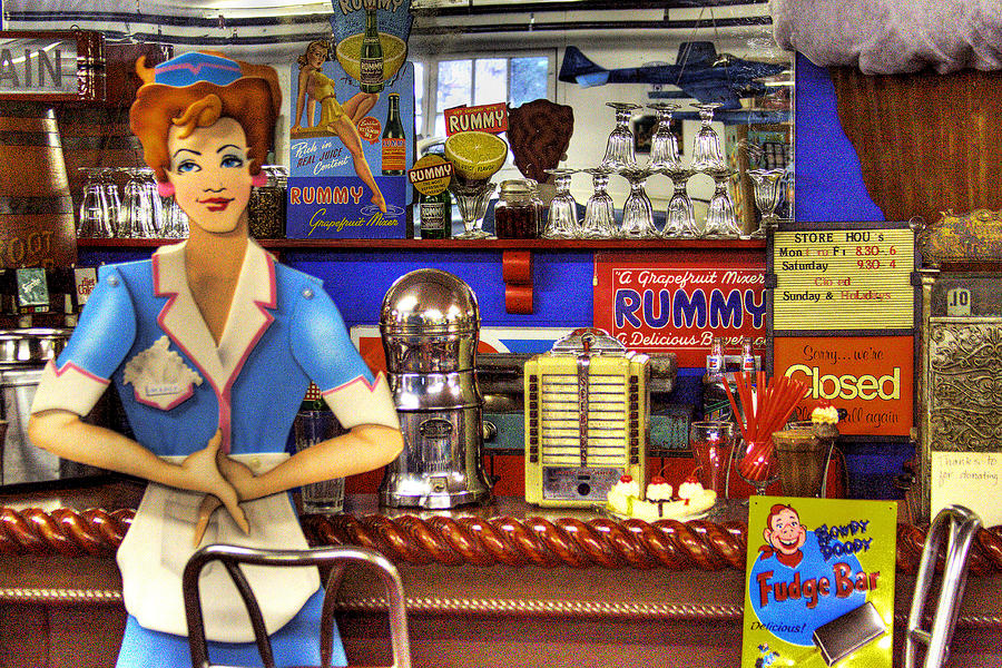 The Soda Fountain Photograph  - The Soda Fountain Fine Art Print