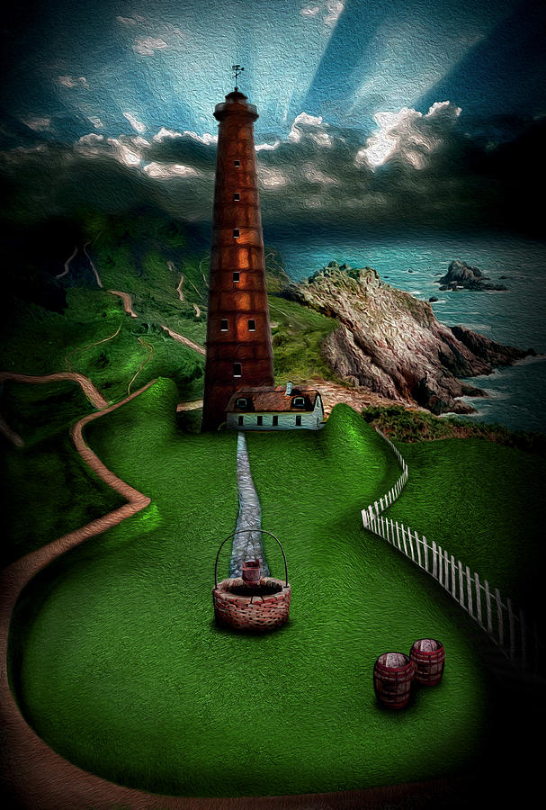 Lighthouse Digital Art - The Sound Of Silence by Alessandro Della Pietra