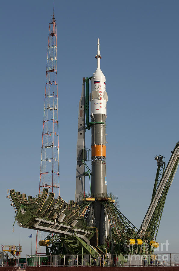 The Soyuz Rocket Shortly After Arrival Photograph