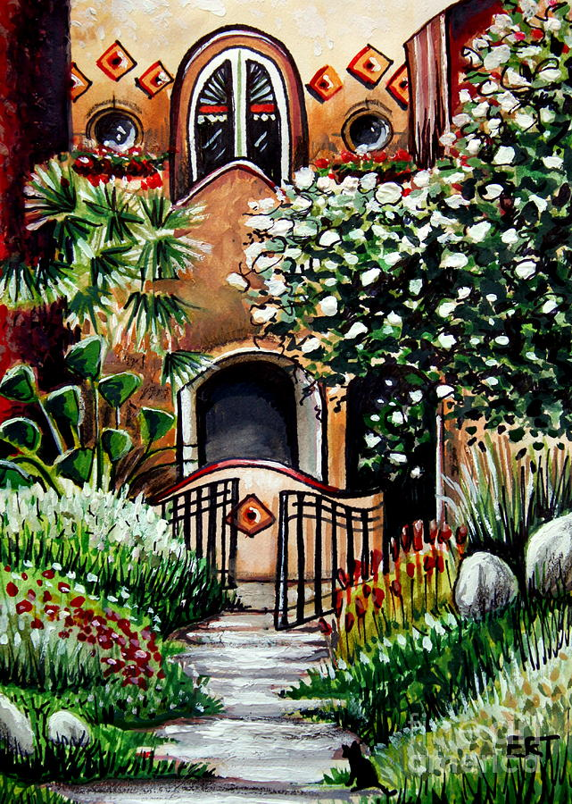 The Spanish Gardens Painting  - The Spanish Gardens Fine Art Print