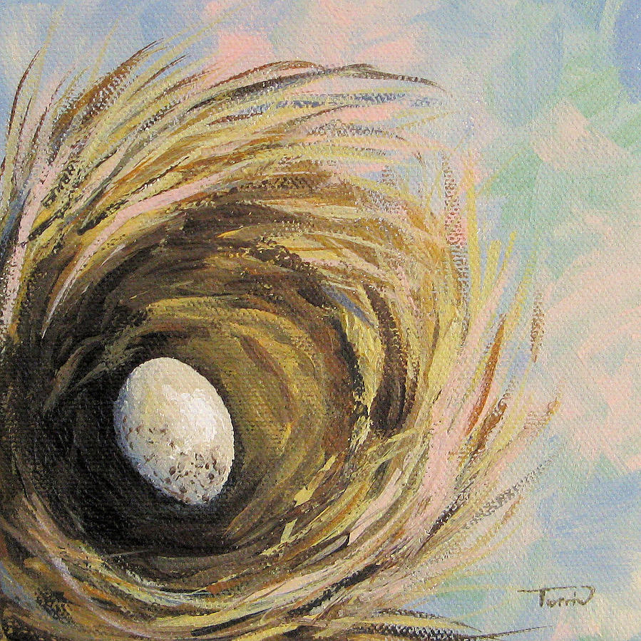 The Speckled Egg Painting  - The Speckled Egg Fine Art Print