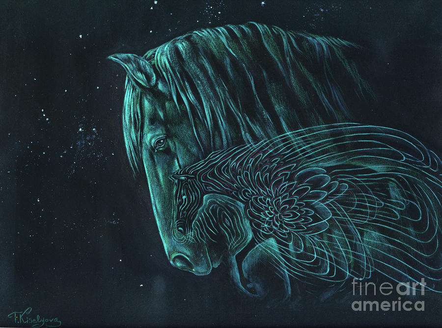 The Spirit Horse Painting  - The Spirit Horse Fine Art Print