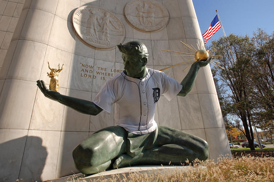 The Spirit Of Detroit Tigers Photograph  - The Spirit Of Detroit Tigers Fine Art Print