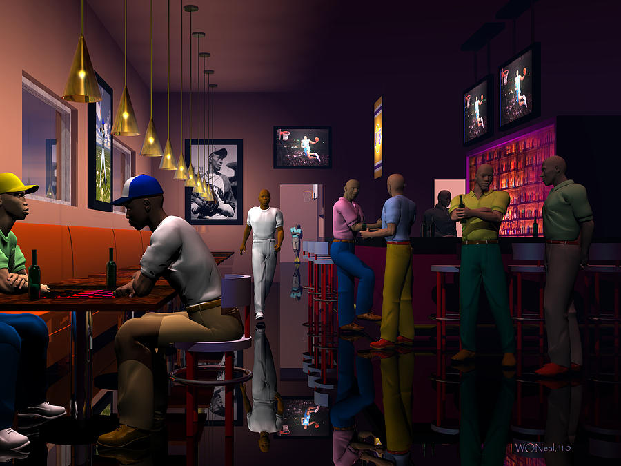The Sports Bar Digital Art