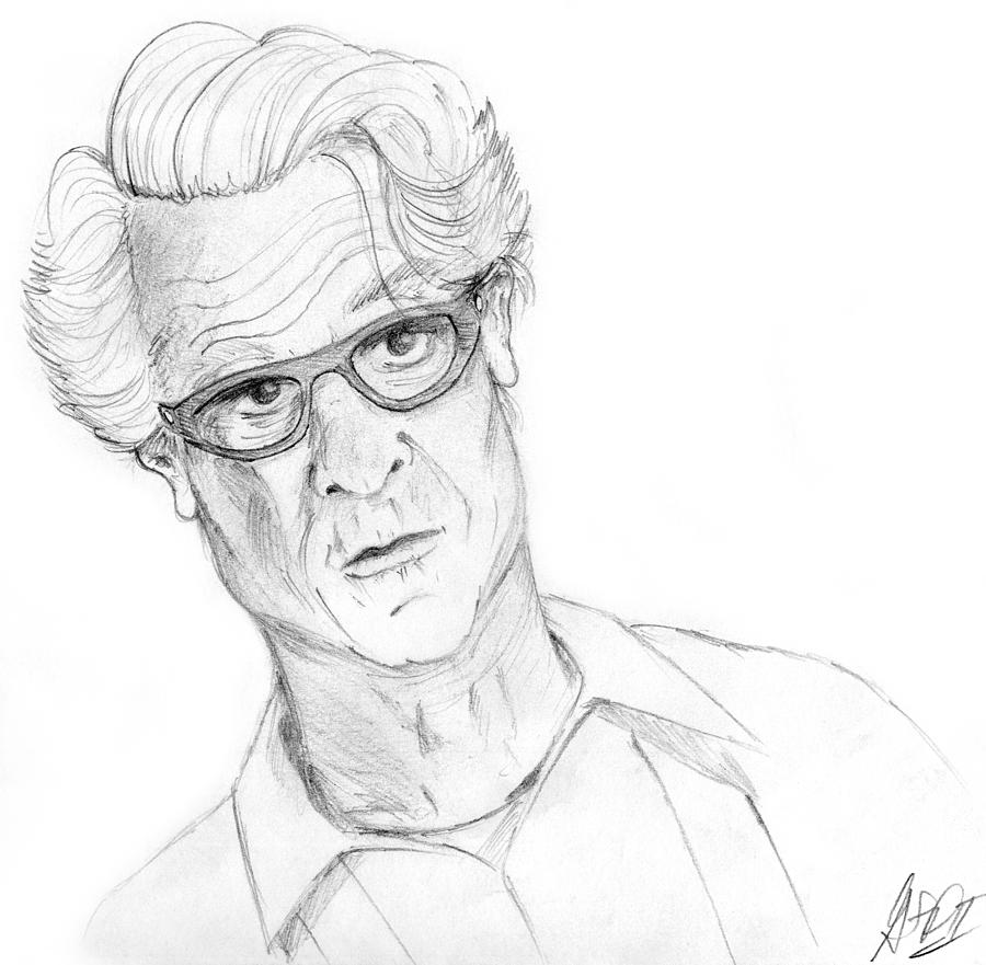 The Star Of The Show - Barry Weiss Drawing  - The Star Of The Show - Barry Weiss Fine Art Print