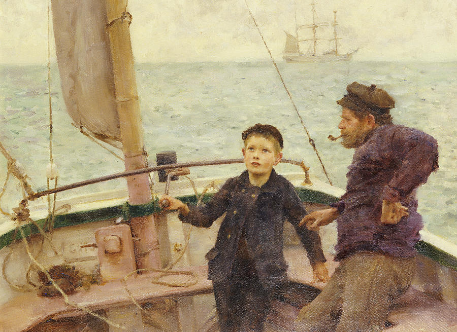 The Steering Lesson Painting