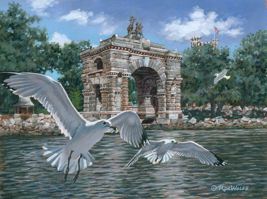 Thousand Islands Painting - The Stone Arch by Richard De Wolfe