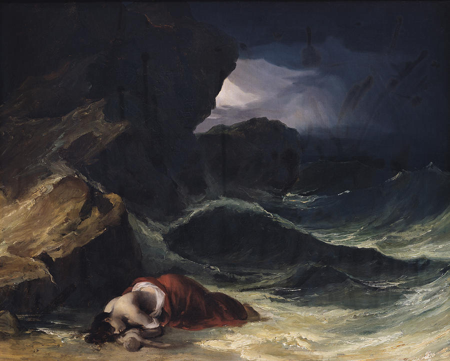 The Storm Or The Shipwreck Painting